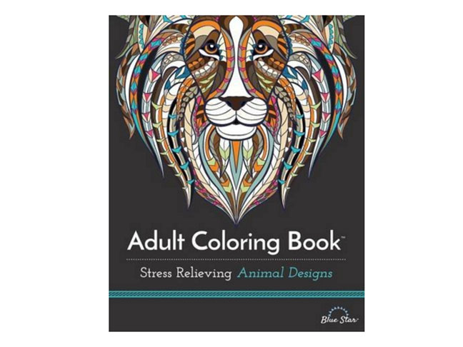 Adult Coloring Book: Stress Relieving Animal Designs by Blue Star Coloring
