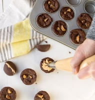 Tagalong/Peanut Butter Patties Brownie Bites