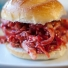 Pulled Turkey Sandwich with BBQ Cranberry Sauce