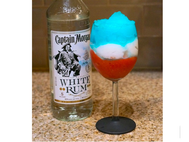 Red White and Blue Cocktail