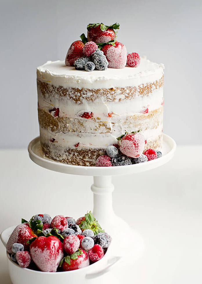 How To Decorate Naked Cake