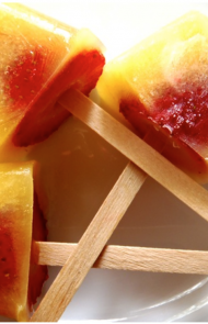 Whole Strawberry Popsicle