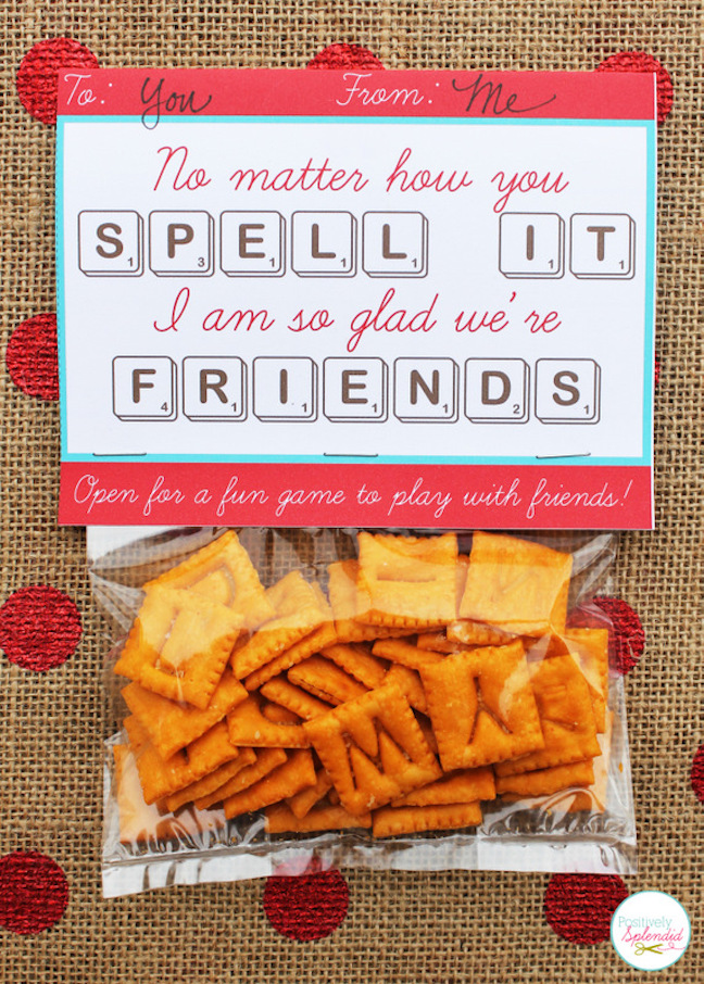 Edible Scrabble Valentines