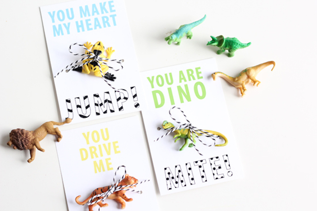 Dino and Wild Animal Valentines