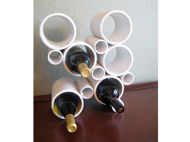 PVC Pipe Wine Rack
