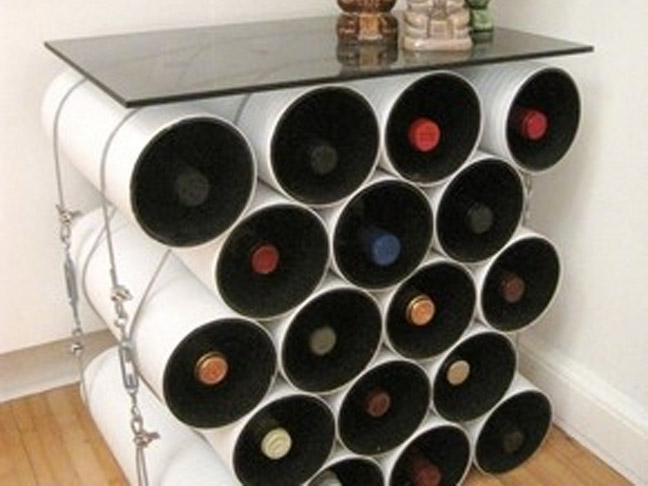 Tubular Wine Rack Side Table