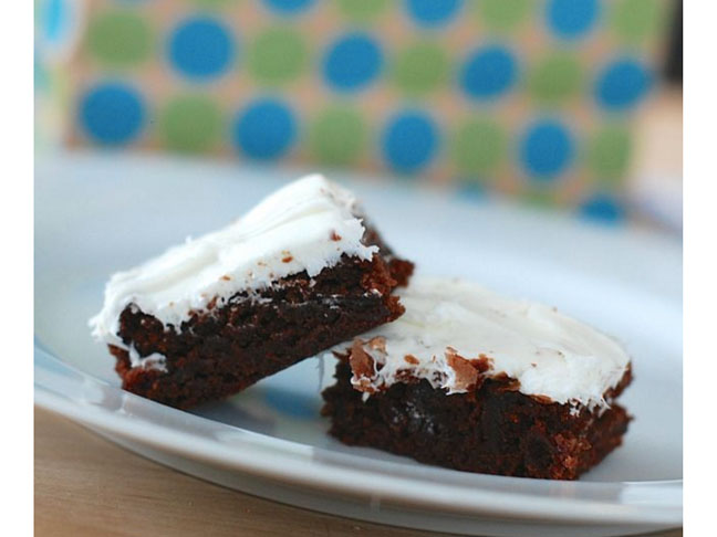 Chocolate Brownies with Peppermint Extract