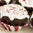 Chocolate Peppermint Muffins with Peppermint Glaze