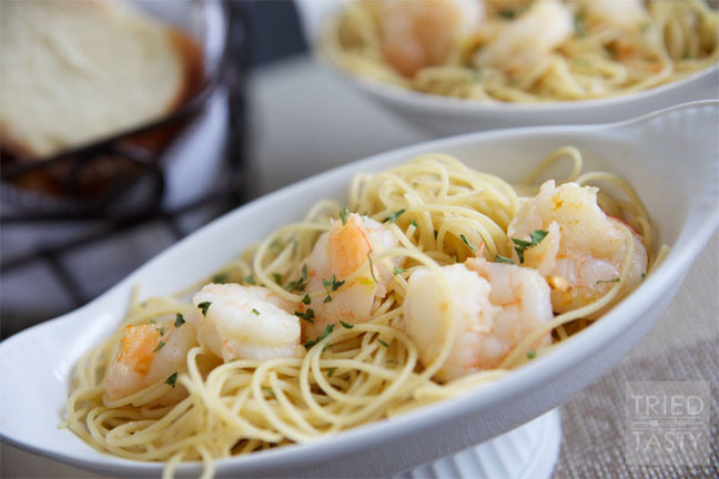 5-Ingredient Shrimp Scampi with Angel Hair Pasta