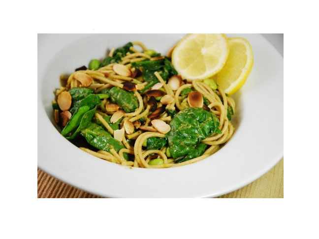 Lemon Spinach Pesto Pasta