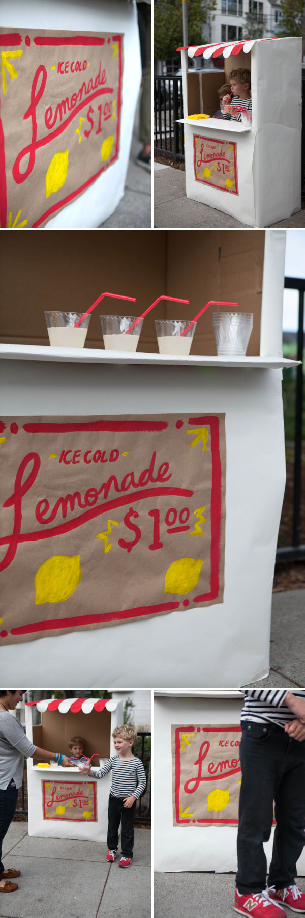31 epic cardboard box crafts for a rainy day for Cool lemonade stand ideas