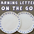 Learning Letters Plates