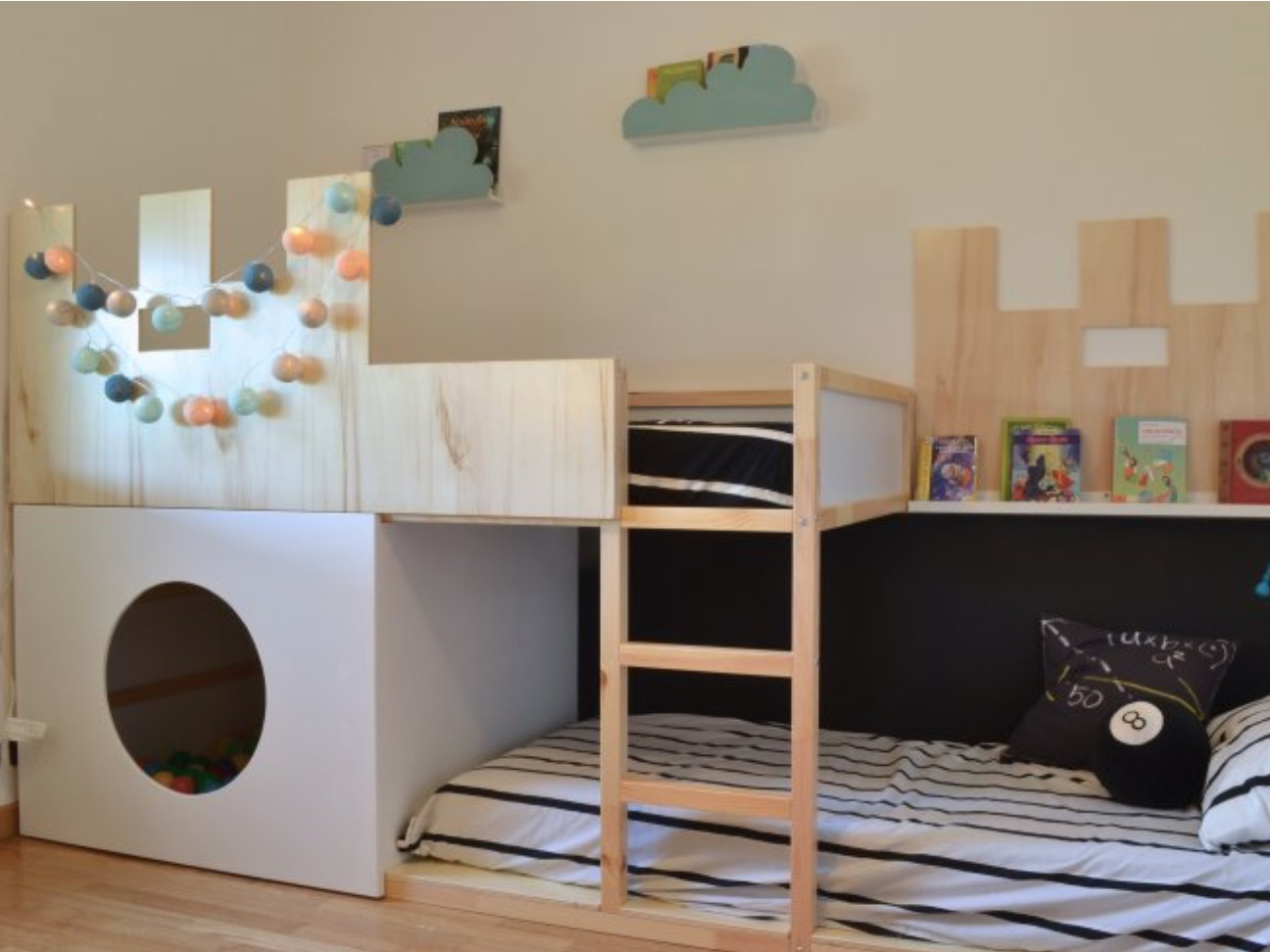 Castle & Ball Pit Bunk Bed