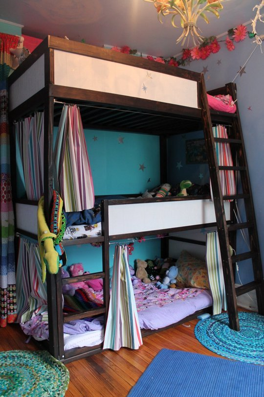 Triple Decker Bunk - 31 IKEA Bunk Bed Hacks That Will Make Your Kids Want To Share A Room