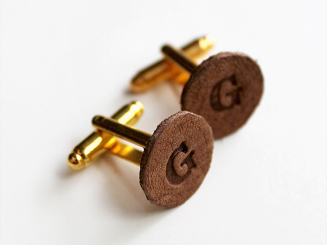 DIY Leather Cuff Links