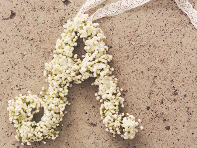 Baby's Breath Monogram