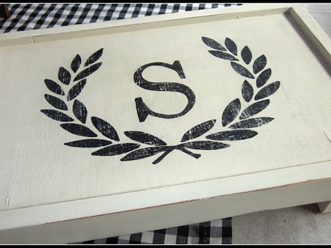 Monogram Bed Tray