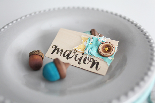 Cute As a Button Place Cards