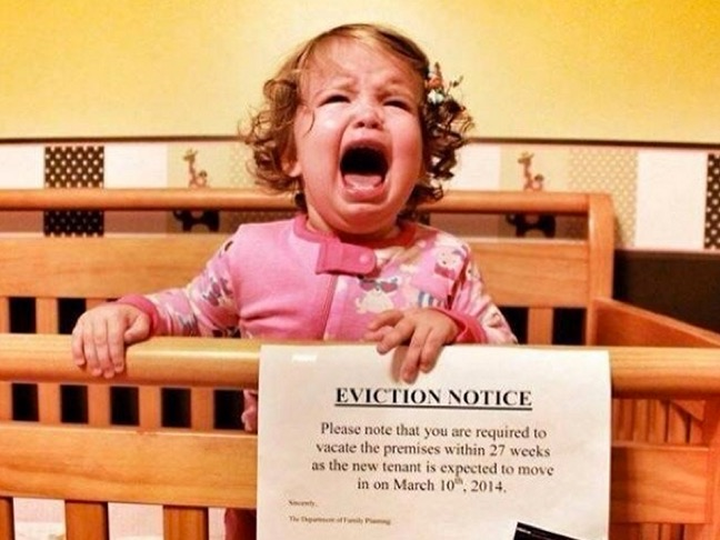 Baby Eviction Notice