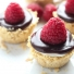No-Bake Meyer Lemon Mini Cheesecakes with Chocolate Ganache
