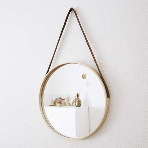 Luxe Hanging Mirror from Super Minimal