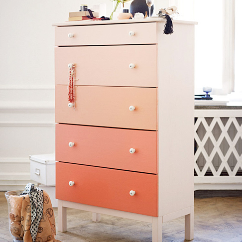 Ombre Dresser from Ikea Sweden
