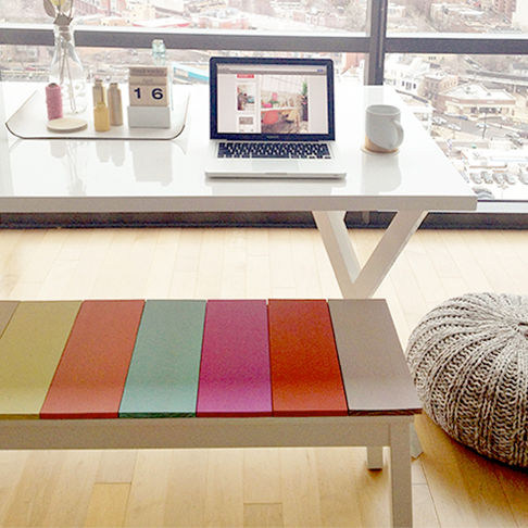 Colorful Plank Bench from Likes of Us