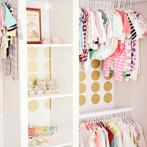 Built In Nursery Closet System from Strawberry Swing and Things