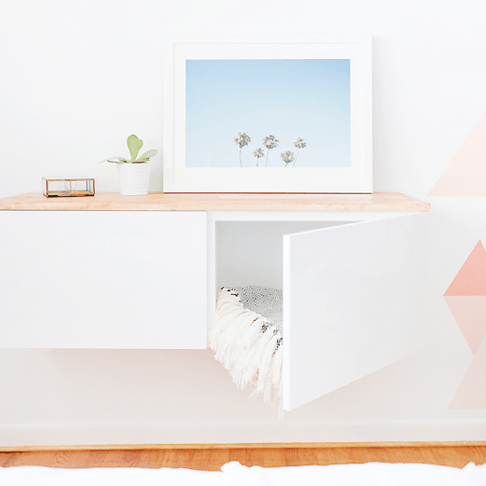 Floating Credenza Hack from Sugar & Cloth