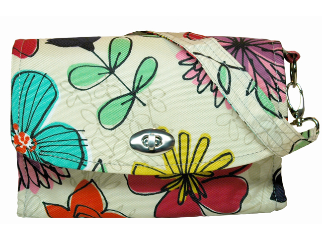 LillyBit Watercolor Floral Clutch