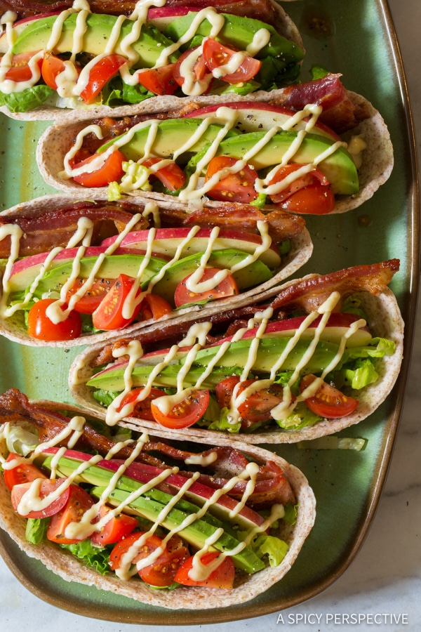 Whole Wheat BLT Tacos