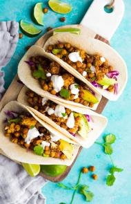 Air Fryer Chickpea Tacos