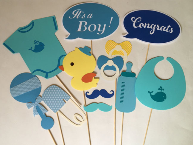 Diy Printable Baby Shower Photo Booth Props Free Home Design