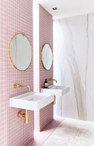 Pink Bathroom Tiles