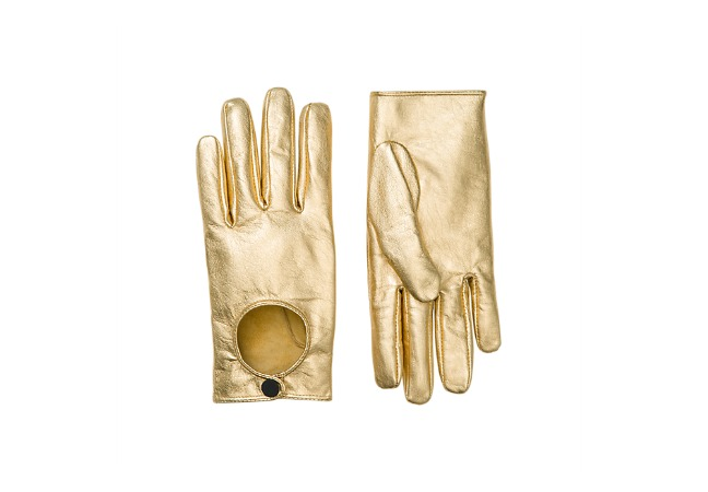 Saturday.com Gold Driving Gloves