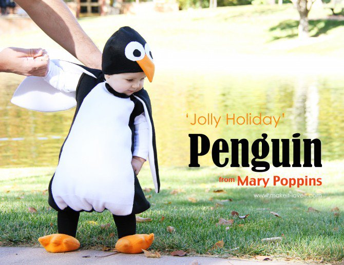 penguin from mary poppins - Infant Penguin Halloween Costume