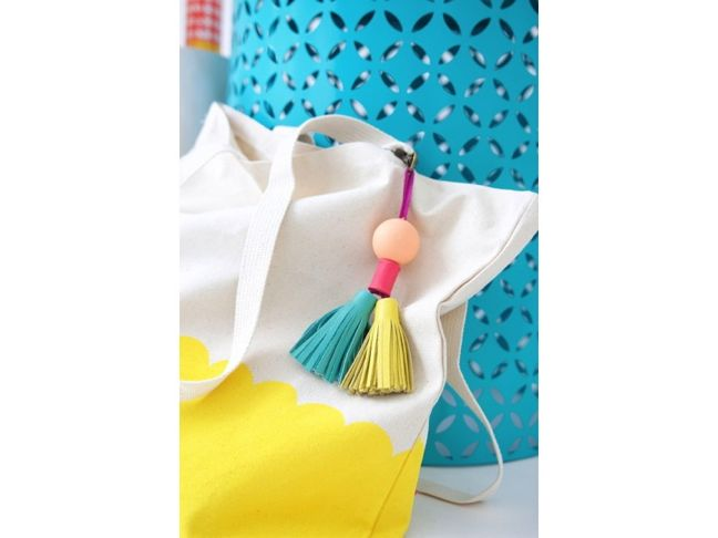 DIY Bead and Leather Tassels