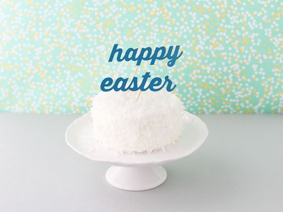 Happy Easter Cake Tops it All Off