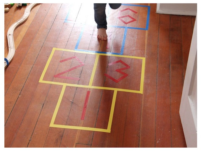 Try a game of hopscotch.