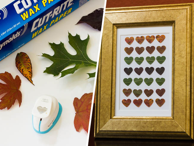 DIY Fall Leaf Punch Art