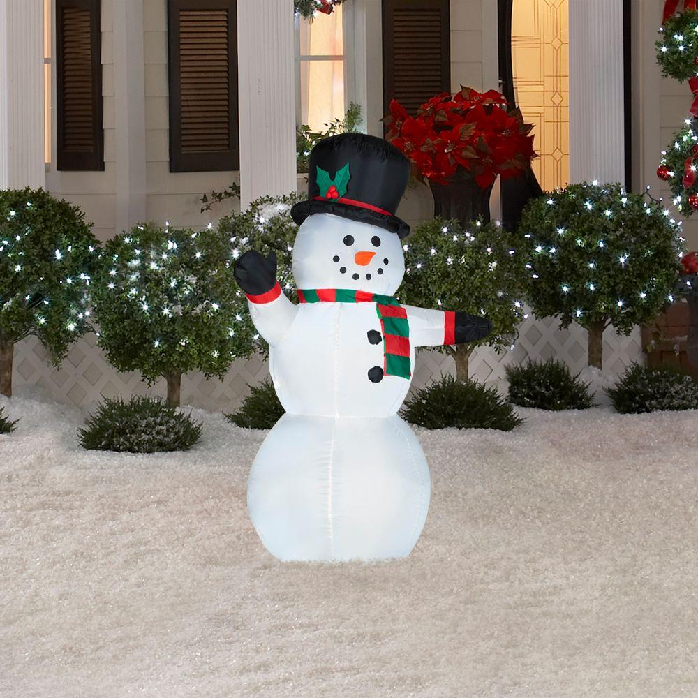 Airblown Lighted Outdoor Snowman