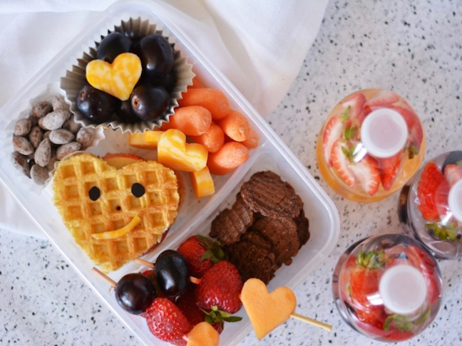 Waffle Sandwich Toddler Lunch
