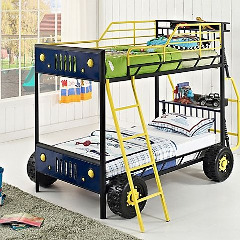 Dune Buggy Twin-over-Twin Bunk Bed