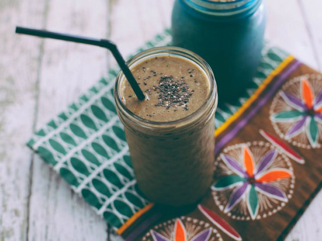 Chocolate Chia PB&J Smoothie