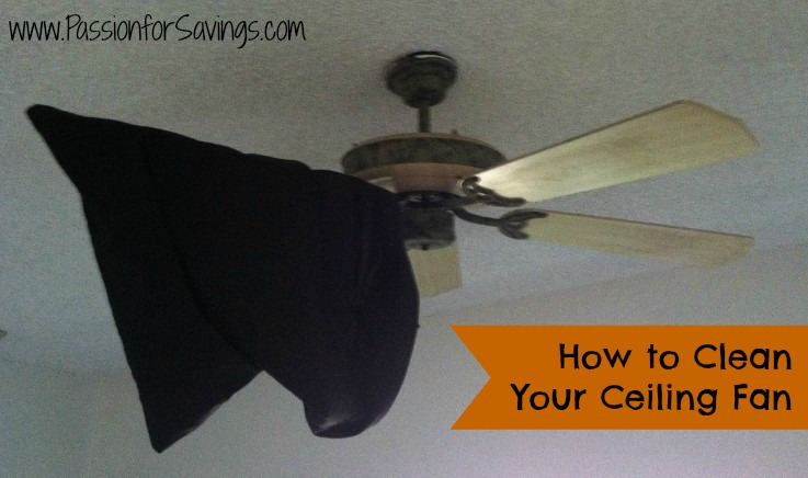 Use a pillowcase to clean your ceiling fan