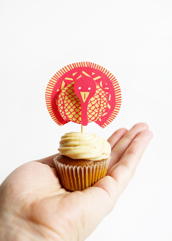 Turkey Cupcake Toppers