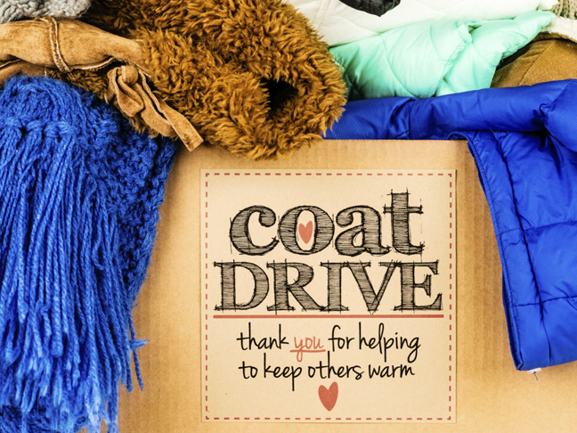 Organize a coat or clothing drive.