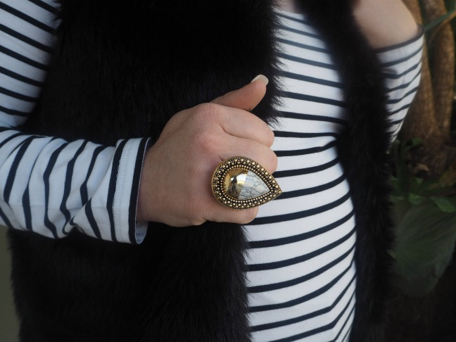 A statement ring that adds some bling