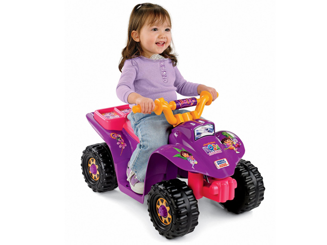 Top Toys For Girls Age 2 : Power wheels dora the explorer lil quad