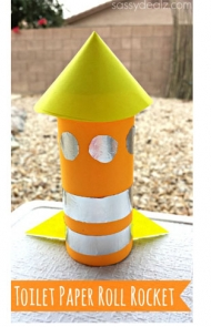 Rocket Toilet Paper Roll Craft